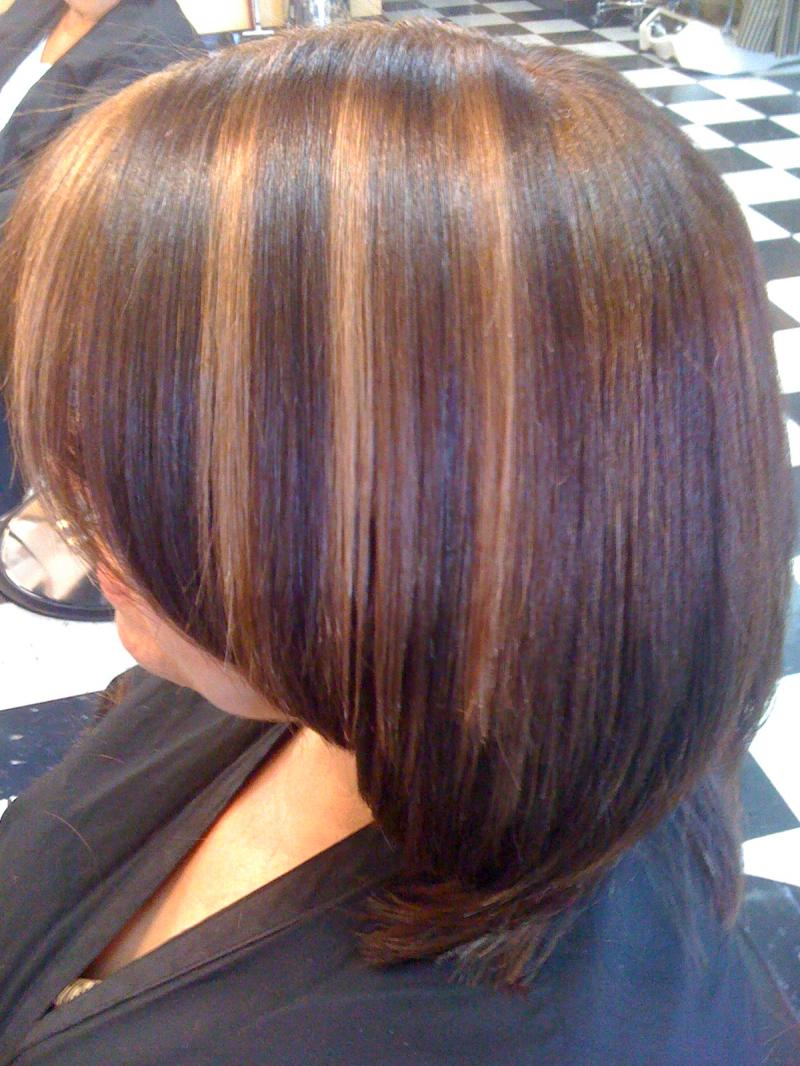 Brazilian Keratine with color and highlights
